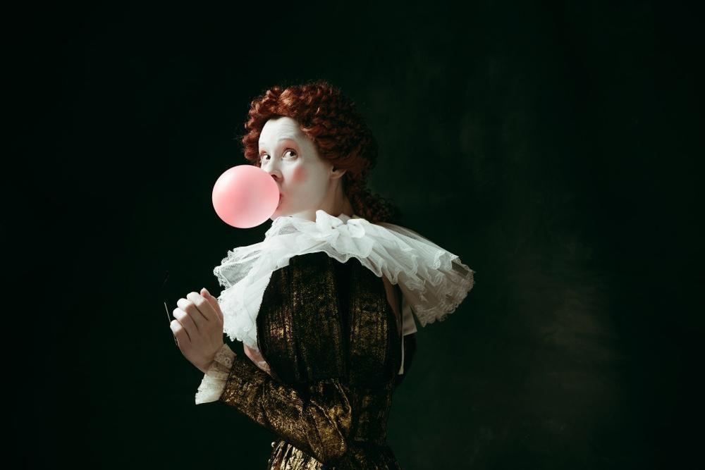 Ragazza in maschera rinascimentale per il Carnevale di Firenze