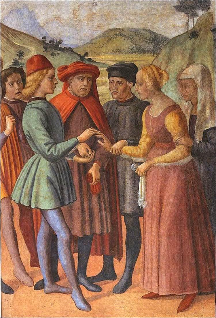 Domenico del Ghirlandaio, affresco Oratorio dei Buonomini di San Martino a Firenze