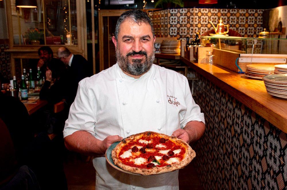 Michele Leo alla Pizzeria Duje