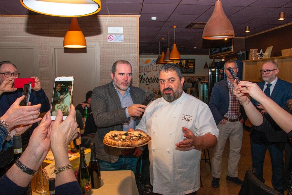 Michele Leo alla Pizzeria Duje a Firenze