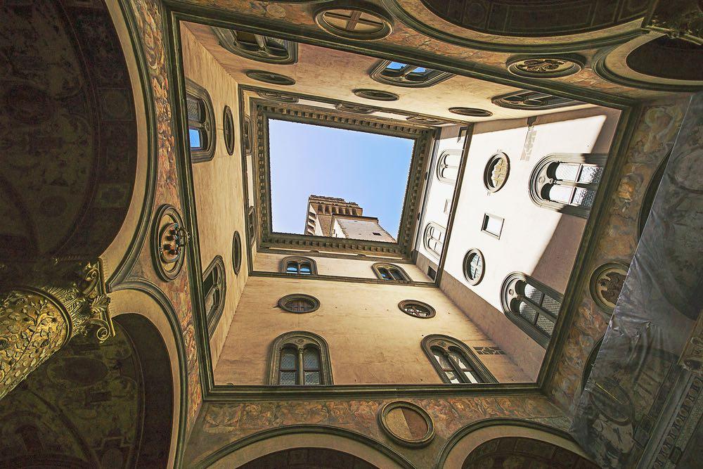 Corte interna di Palazzo Vecchio a Firenze