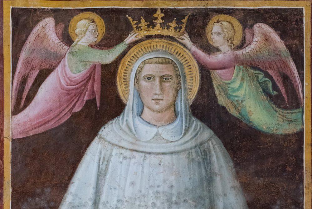 Affreschi dentro la chiesa di San Francesco a Arezzo