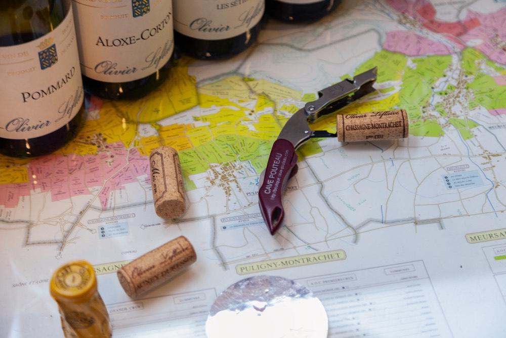 Vini francesi con mappa