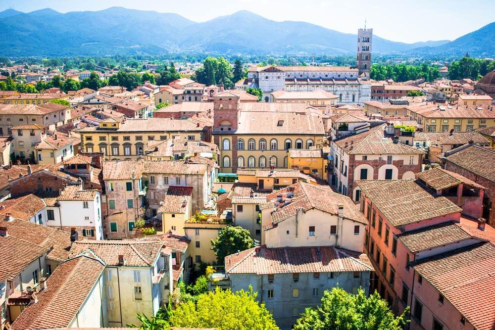 Veduta aerea di Lucca