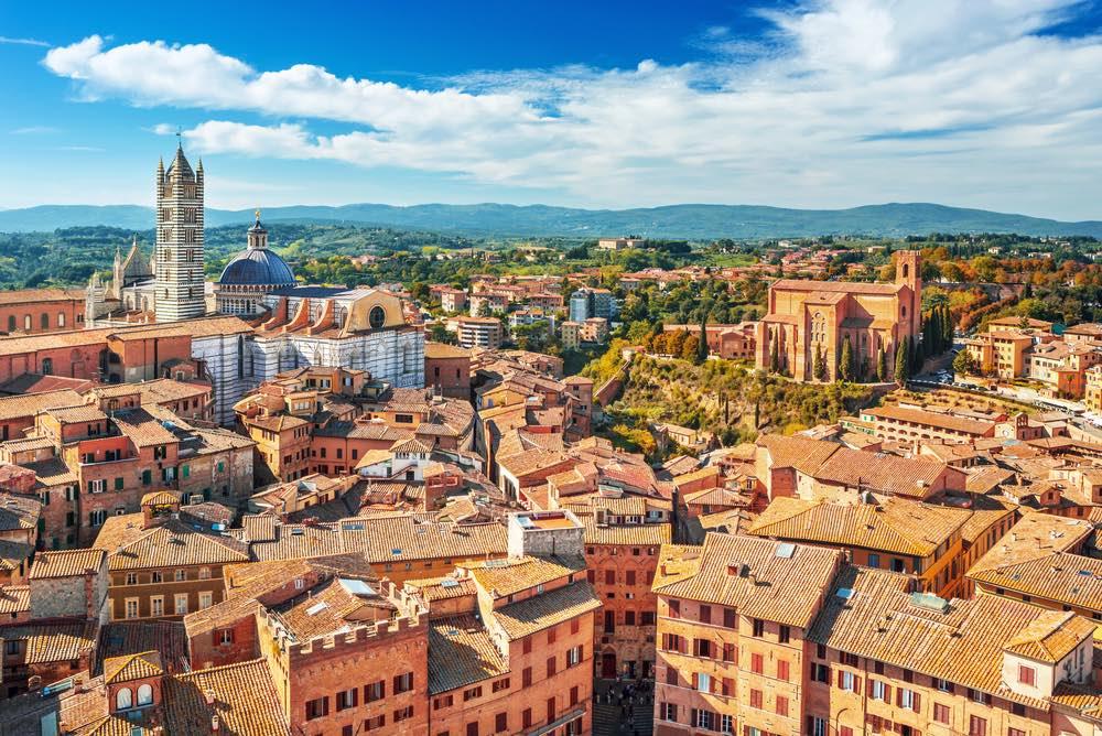 #mytuscanyis Siena, la città del Palio vista dall'alto