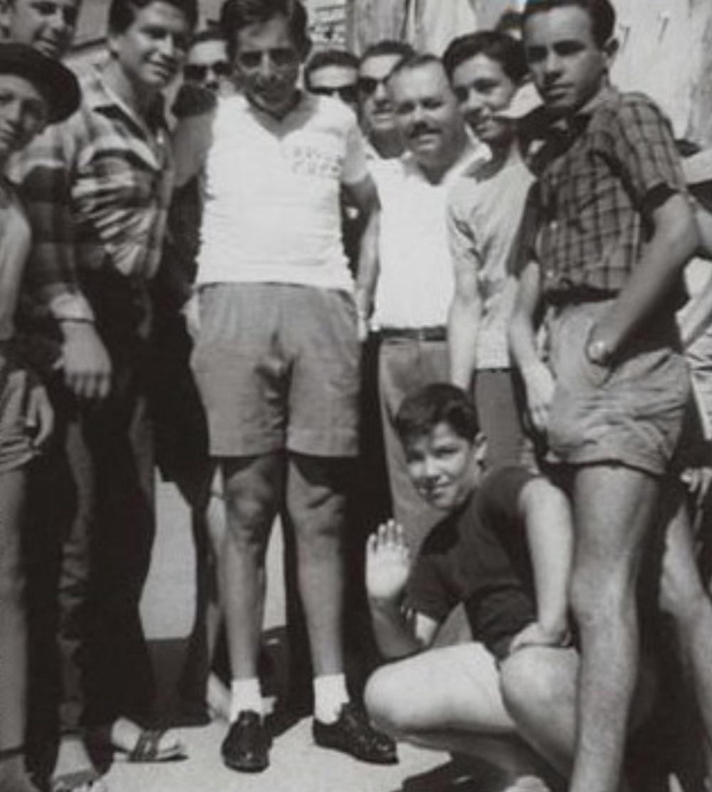 Fausto Coppi a Rio dell'Elba, borgo toscano sull'Isola d'Elba