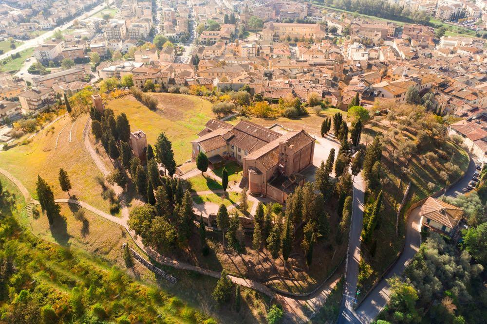 Il norogo di Castelfiorentino visto dall'alto