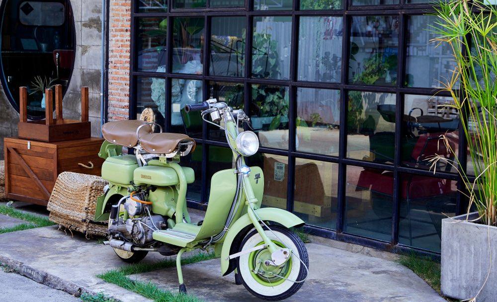 Lambretta 125 verde chiaro