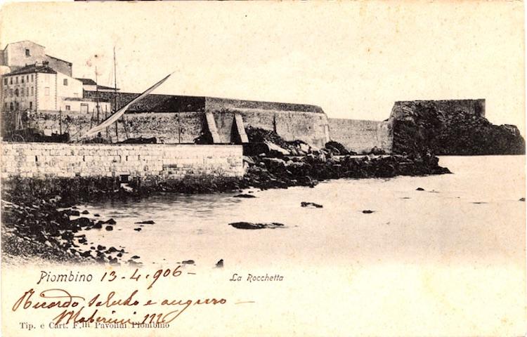 Foto d'epoca dell'antica Rocchetta d Piombino detta Pan di Sapone