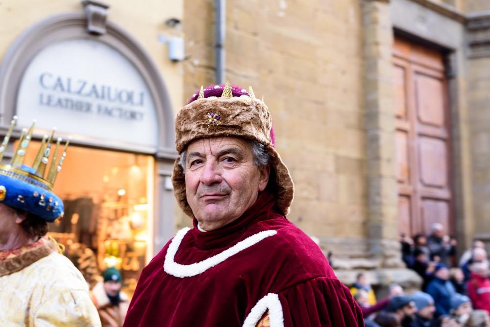 Figurante nel corteo storico fiorentino