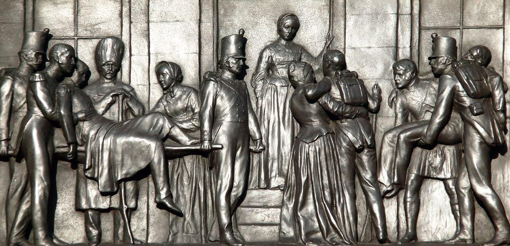 Placca al Victorian memorial di Londra per Florence Nightingale