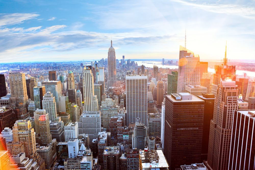 Vista aerea di New York