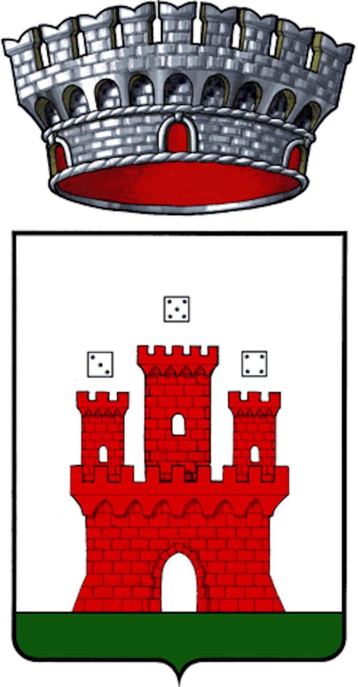 Lo stemma del comune di Castell'Azzara nella Maremma toscana