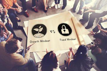 Cartello fixed mindset versus growth mindset