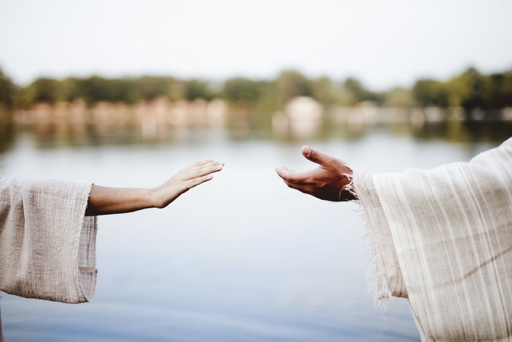Allungare la mano uno verso l'altra