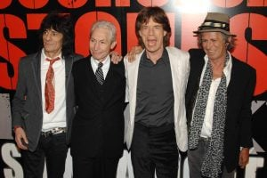 Ronnie Wood, Charlie Watts, Mick Jagger, Keith Richards at SHINE A LIGHT Premiere,