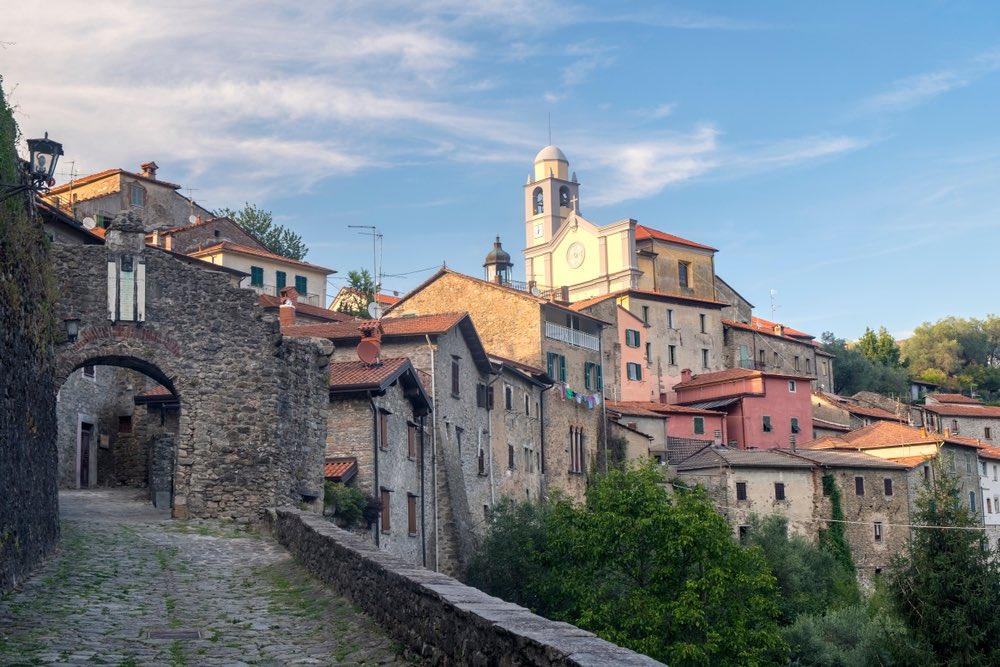 Borgo toscano di Mulazzo in Lunigiana