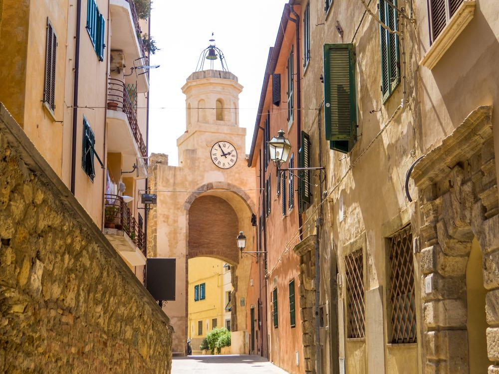 Torre dell'Orologio a Porto Ercole, uno dei borghi più belli d'Italia