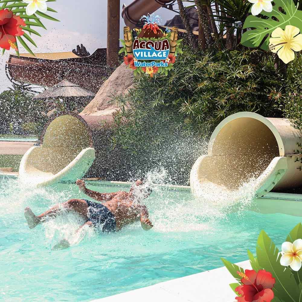 L'Acqua Village di Cecina è uno dei parchi divertimento acquatici più grandi della Toscana