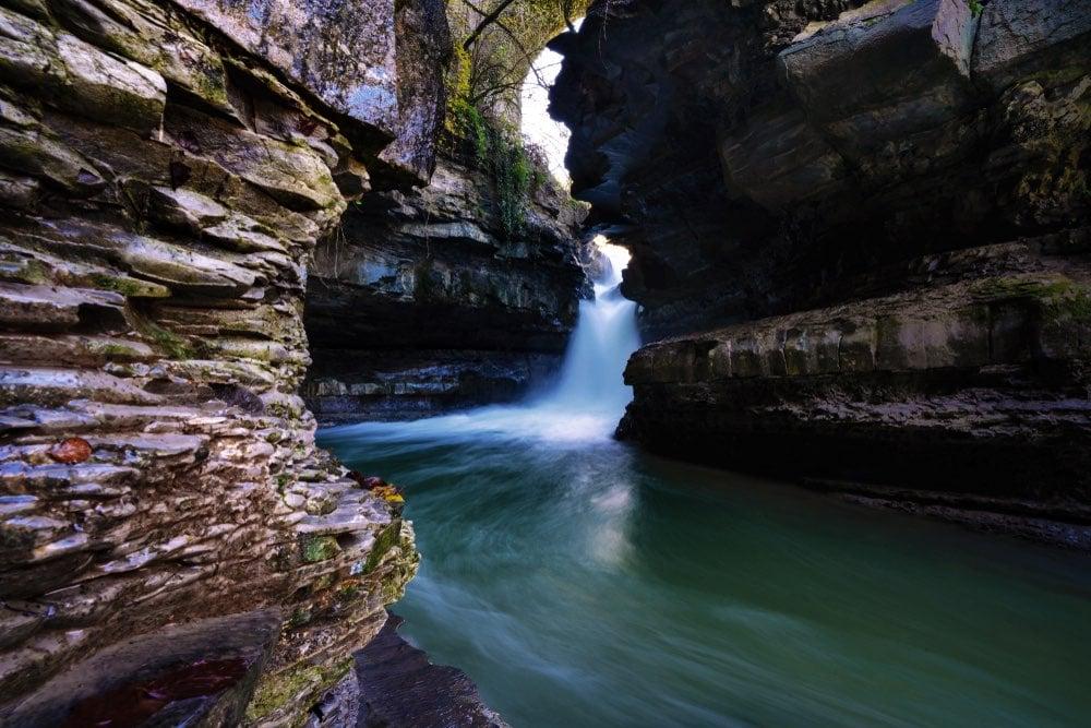 Cascate dell'Acqua Cheta in Casentino, nel Parco Nazionale delle Foreste Casentinesi
