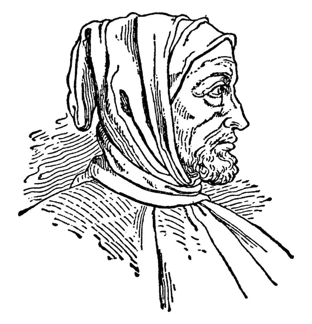 Ritratto di Cimabue, pittore toscano padre della pittura italiana