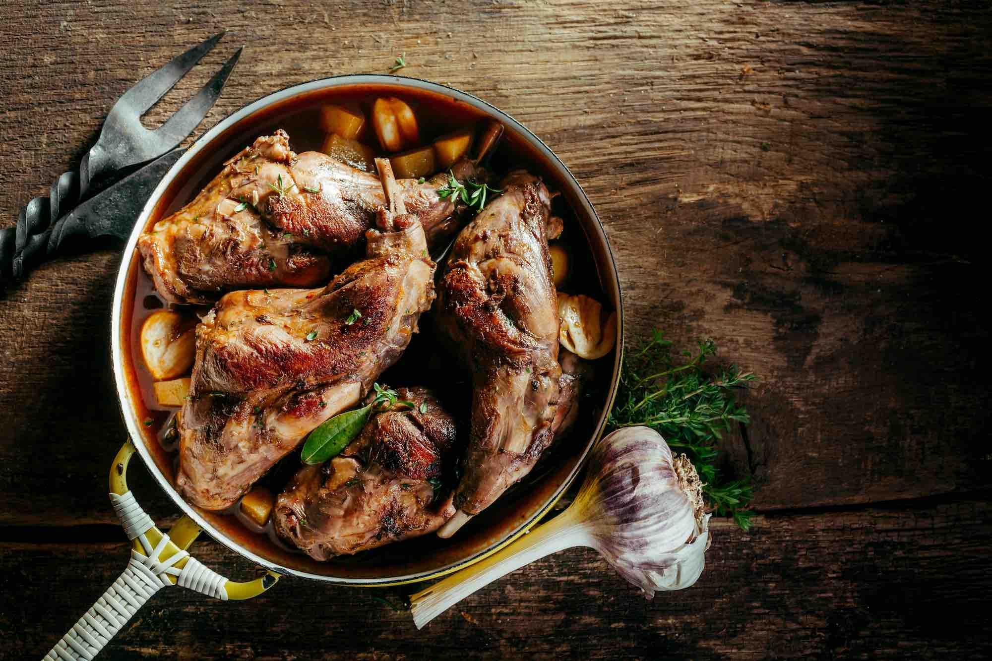 Ricetta toscana: coniglio arrosto morto cotto in padella