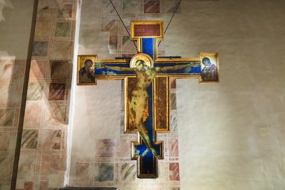 Crocifisso di Cimabue nella Basilica di Santa Croce a Firenze