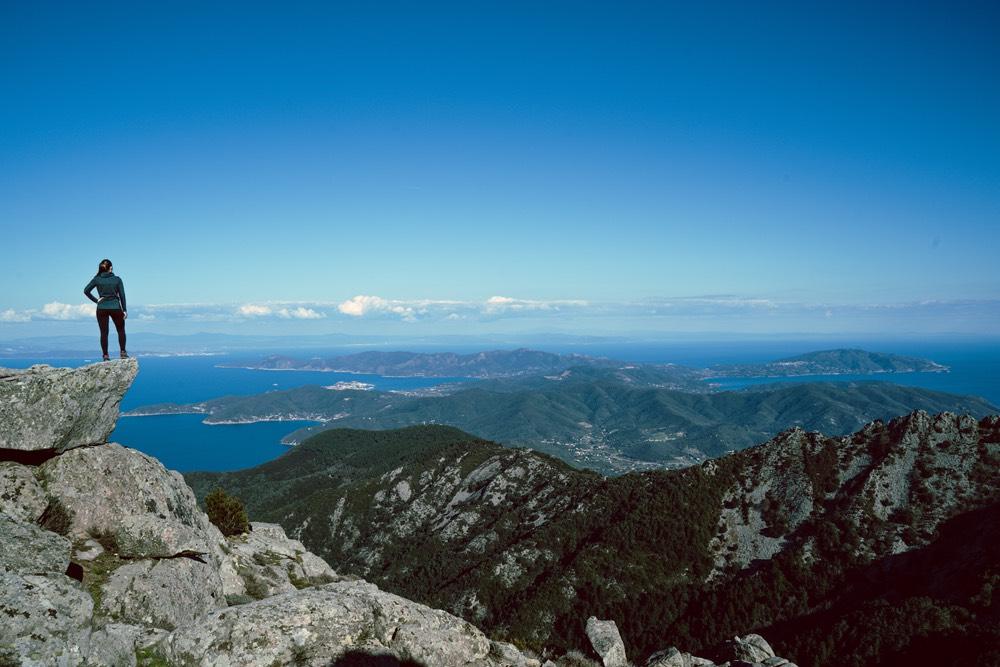 Vista dell'Isola d'Elba dalla vetta del Monte Capanne