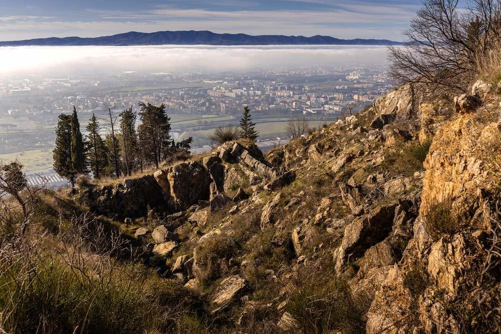 Prato vista dal Monte Calvana