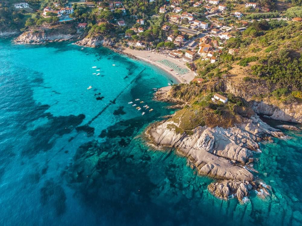 La spiaggia di Sant'Andrea all'Isola d'Elba