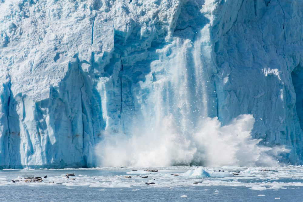 Scioglimento dei ghiacciai al polo nord