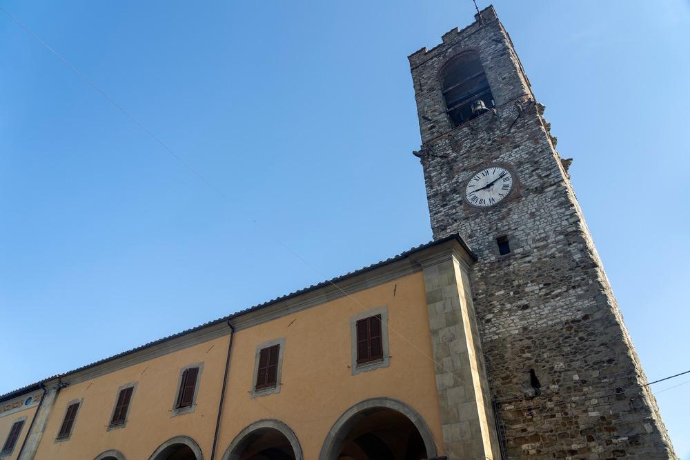 La torre di Bibbiena, uno dei borghi toscani della zona del Casentino