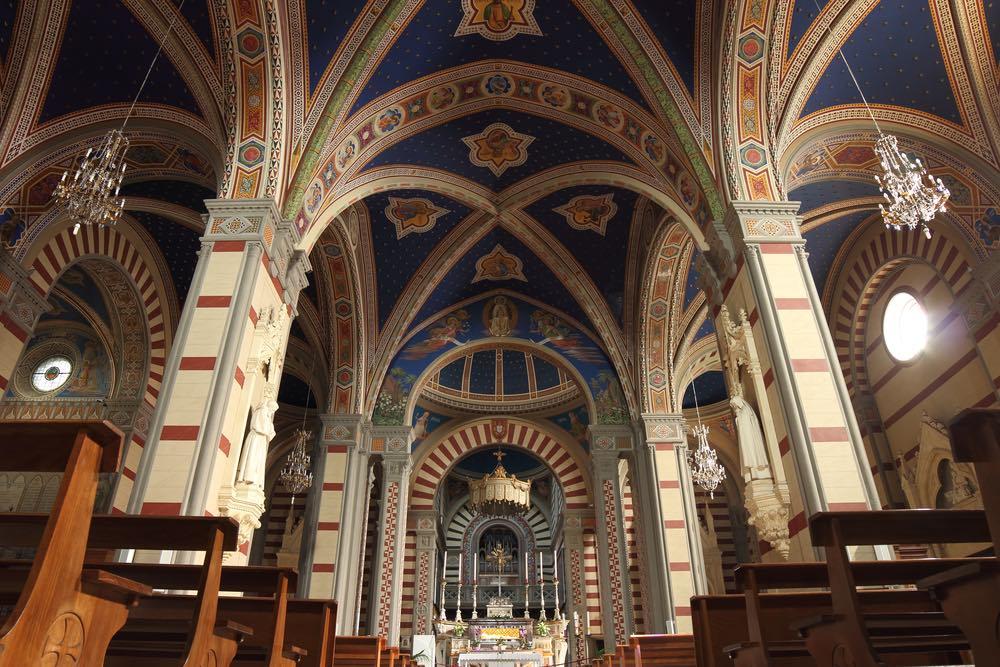 Interno della Basilica minore di Santa Margherita a Cortona