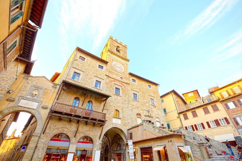 Palazzo Comunale di Cortona, borgo di origini etrusche in Val di Chiana