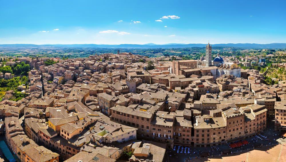 Veduta di Siena dalla Torre del Mangia