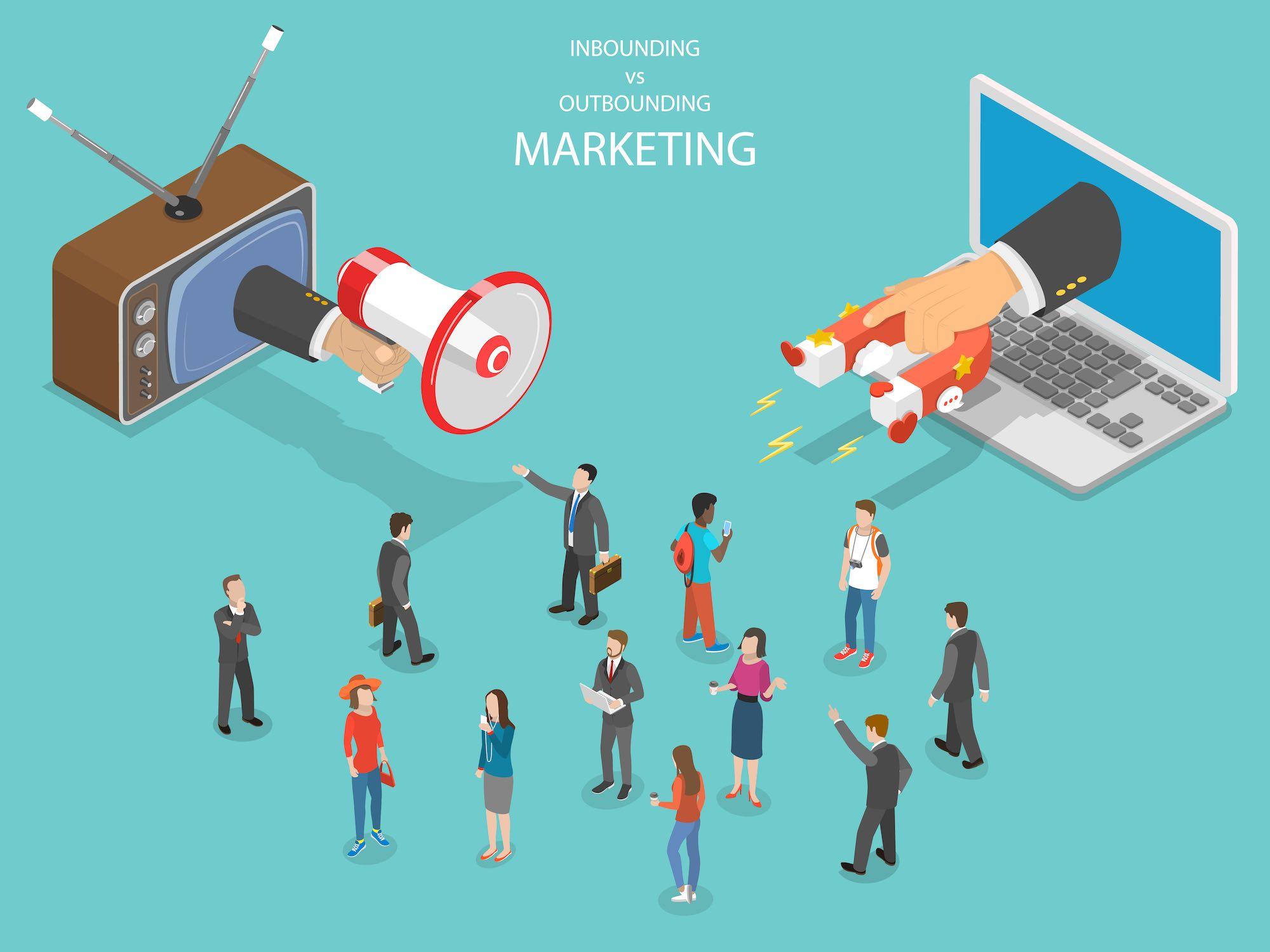 La differenza tra marketing e pubblicità: Inbound marketing contro Outbound marketing