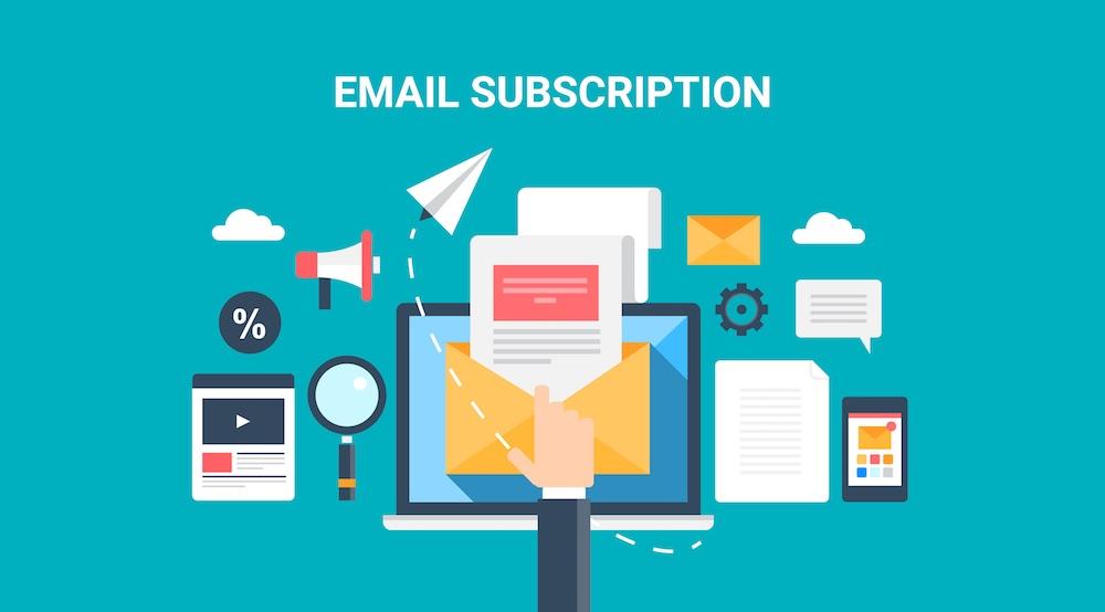 Immagine vettoriale per email subscription
