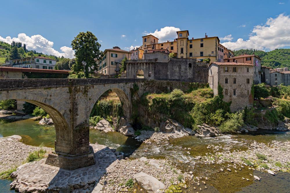 la Fortezza di Castelnuovo di Garfagnana borgo in Toscana