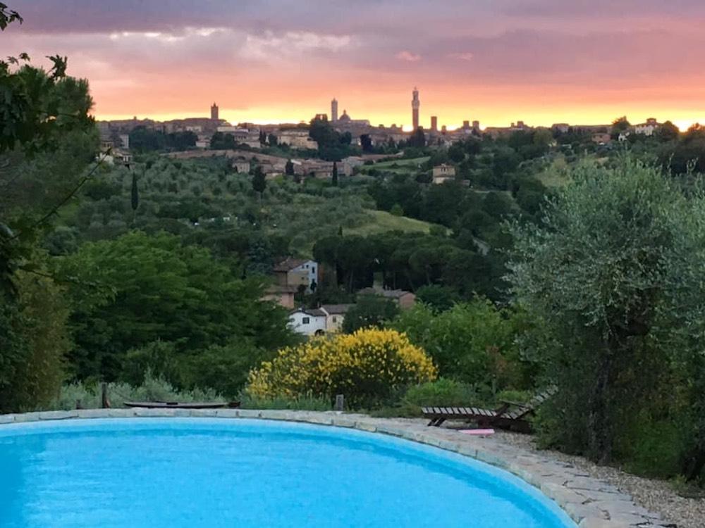 Panorama dal Frances' Lodge, charme resort alle porte di Siena