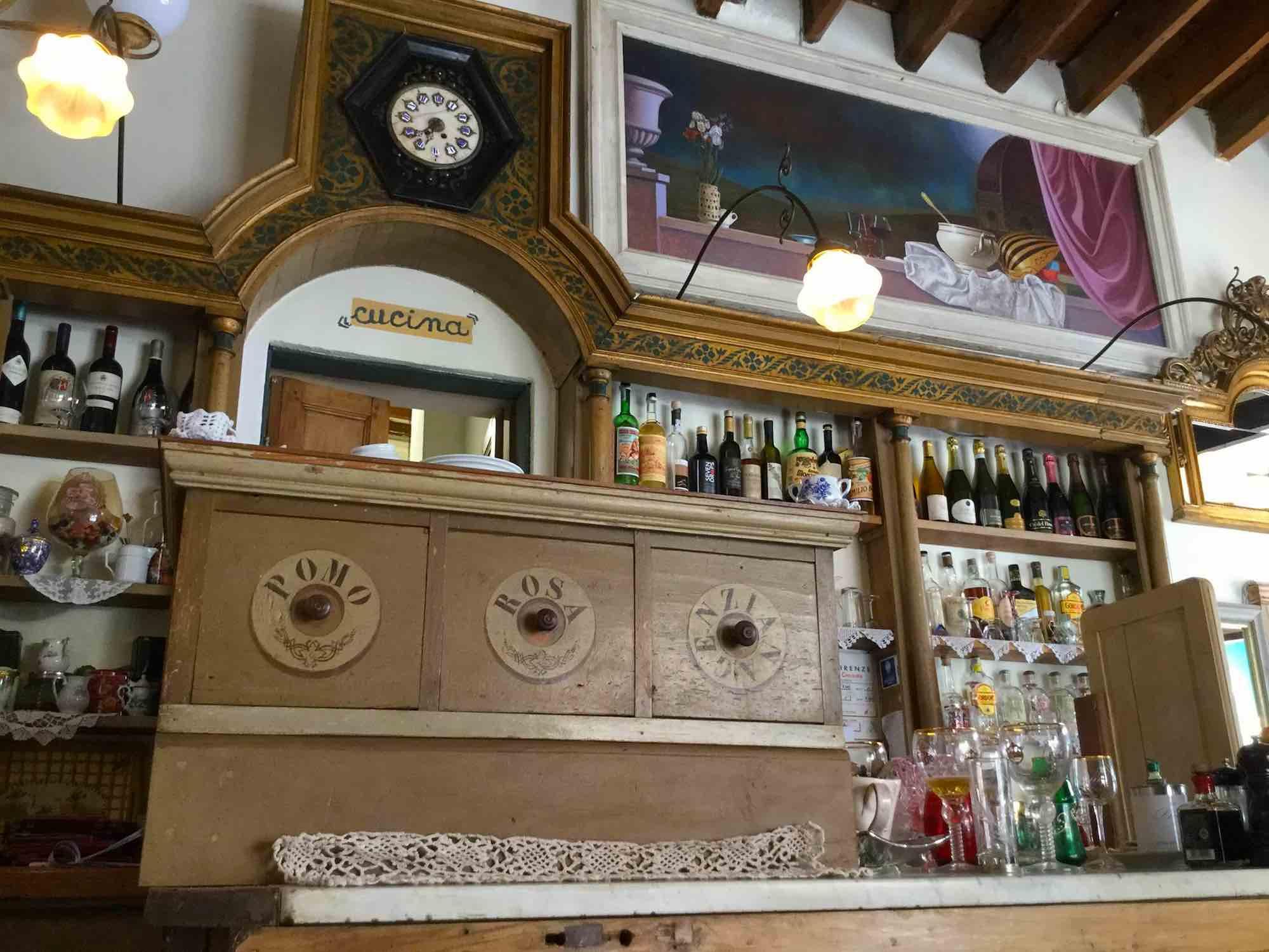Interno del ristorante Gilda Bistrot a Firenze