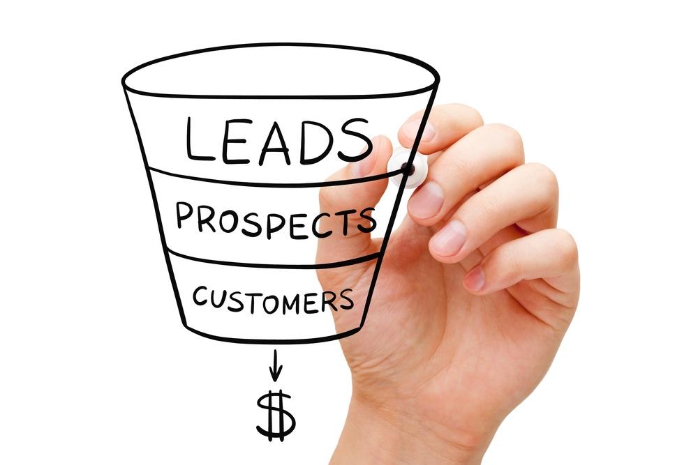 Il funnel di vendita con trasformazione da leads a customers