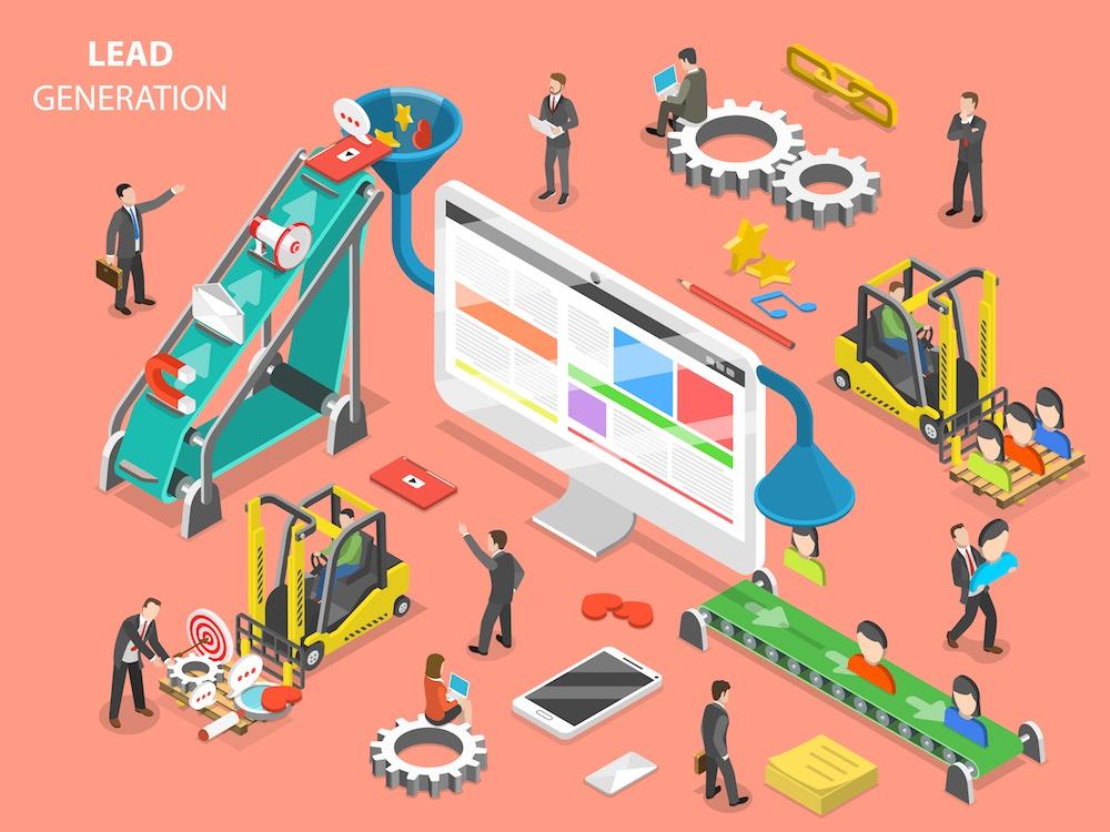 Rappresentazione grafica del concetto di lead generation strategy