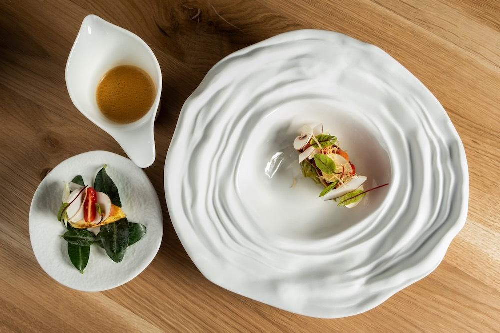 Piatto del nuovo ristorante stellato toscano LINFA
