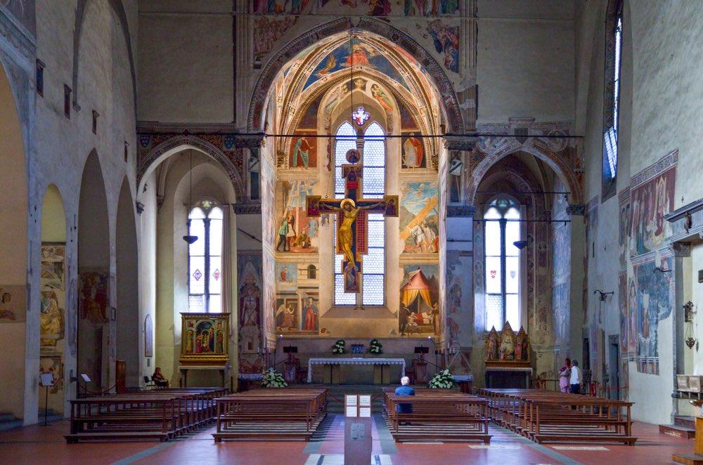 Chiesa di San Francesco ad Arezzo con dipinto Piero della fFrancesca
