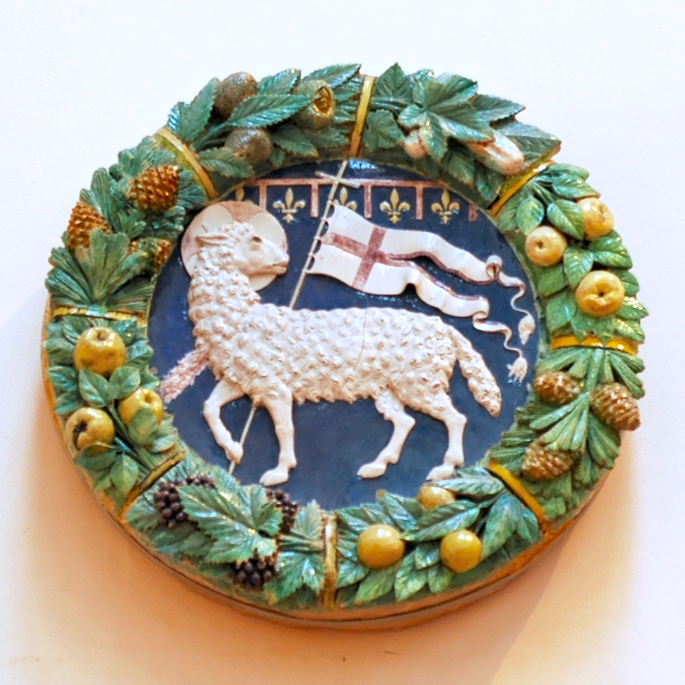 L'Agnus Dei su fondo blu era il simbolo dell'Arte della Lana fiorentina