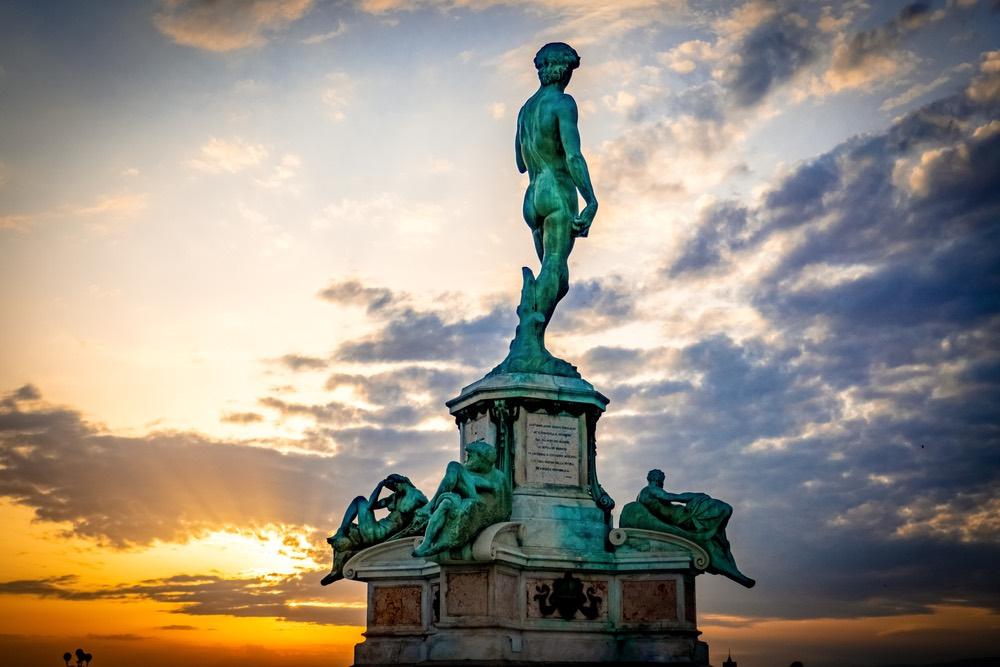 La copia del David al Piazzale Michelangelo