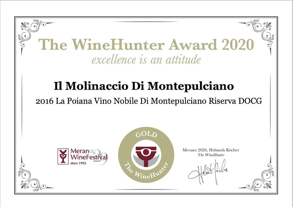 Vincitore WineHunter Award 2020