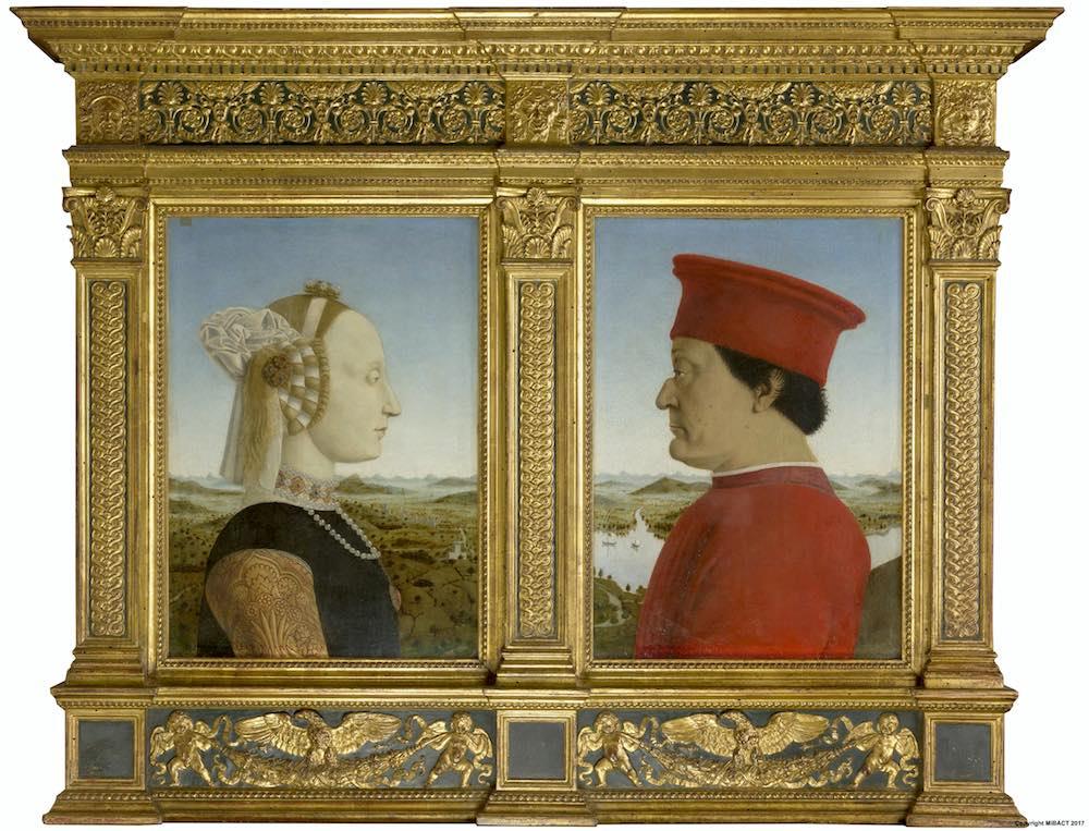 Dittico di Piero della Francesca agli Uffizi