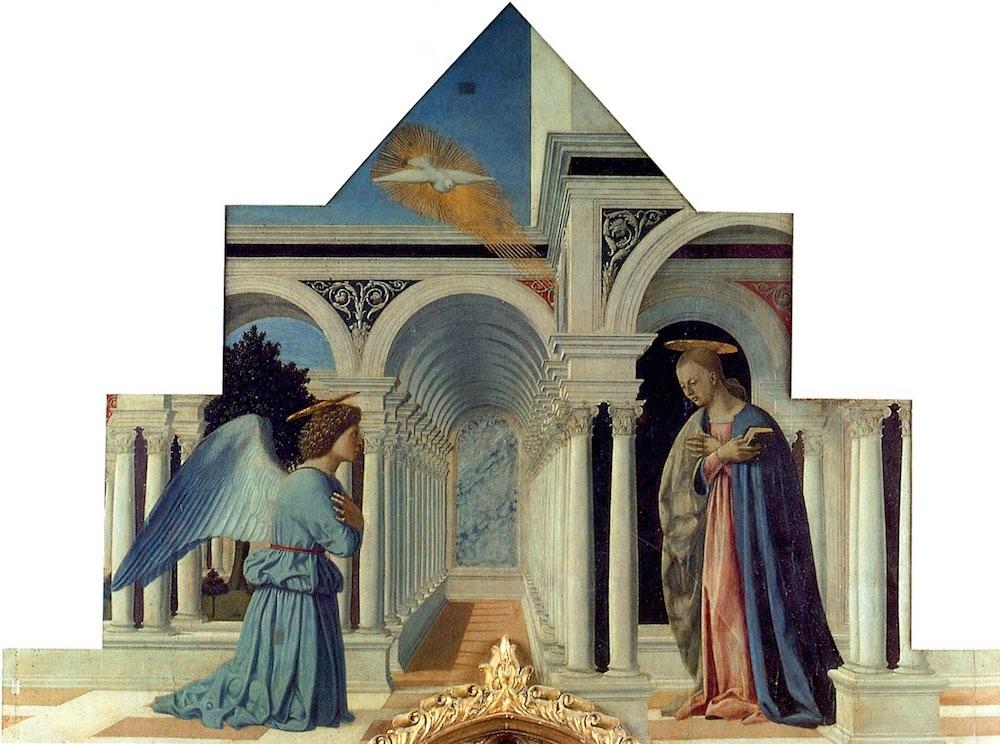 Polittico Annunciazione di Piero della Francesca nella chiesa di Sant'Antonio