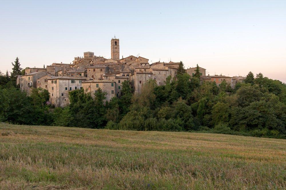 Il borgo di San Casciano dei Bagni in Toscana nella Valdichiana senese